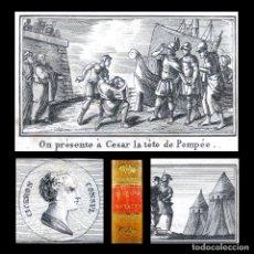 Libros antiguos: AÑO 1812 PRIMERA EDICIÓN HISTORIA ROMANA CLEOPATRA PIRATAS CÉSAR POMPEYO GRABADOS ROMA ROLLIN. Lote 175299835