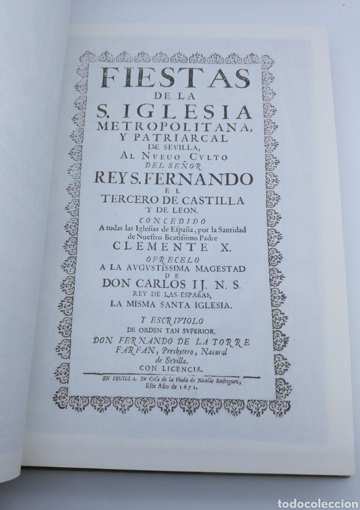 Libros antiguos: Facsímil fiestas de la iglesia Sevilla 1691 con desplegables - Foto 2 - 175415440