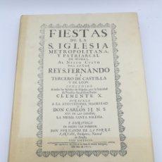 Libros antiguos: FACSÍMIL FIESTAS DE LA IGLESIA SEVILLA 1691 CON DESPLEGABLES. Lote 175415440