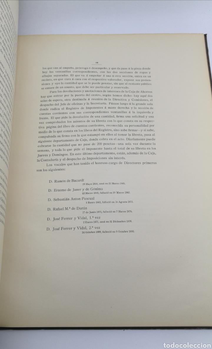 Libros antiguos: Caja de ahorros del monte pio de barcelona 1844 1904 - Foto 5 - 175415605
