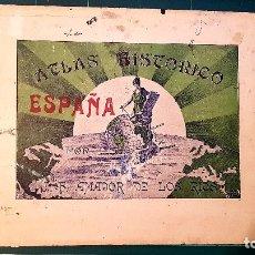 Libros antiguos: J. F. AMADOR DE LOS RÍOS - ATLAS HISTÓRICO DE ESPAÑA. CURIOSO Y RARO. 29 MAPAS. VER FOTOGRAFÍAS. Lote 175780022