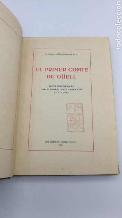 Libros antiguos: El conte de Güell 1951 - Foto 2 - 175837175