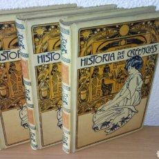 Libros antiguos: 1904 HISTORIA DE LAS CREENCIAS *OBRA COMPLETA* MONTANER Y SIMON EDITORES. Lote 176170445