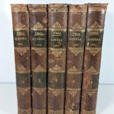 Libros antiguos: HISTORIA DE LA GUERRA CIVIL, Y DE LOS PARTIDOS LIBERAL Y CARLISTA. 5 TOMOS. 1868/69.. Lote 176724573