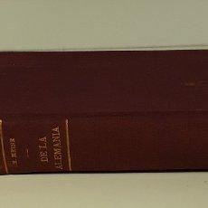 Libros antiguos: DE LA ALEMANIA. TOMOS I Y II. ENRIQUE HEINE. EDIT. F. SEMPERE Y CIA. VALENCIA. S/F.. Lote 176833190