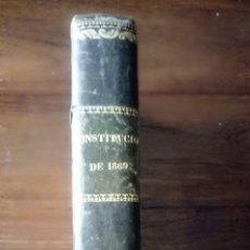 Libros antiguos: LIBRO CONSTITUCIÓN 1869. Lote 176858155