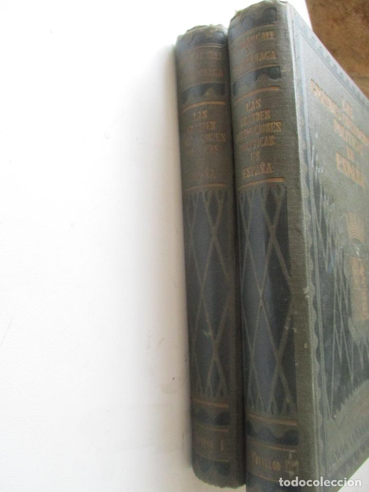 Libros antiguos: LAS GRANDES CONMOCIONES POLITICAS EN ESPAÑA, FRANCISCO PI Y MARGALL y PI Y ARSUAGA-S/F- 2 TOMOS - Foto 2 - 176913213