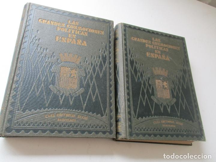 LAS GRANDES CONMOCIONES POLITICAS EN ESPAÑA, FRANCISCO PI Y MARGALL Y PI Y ARSUAGA-S/F- 2 TOMOS (Libros antiguos (hasta 1936), raros y curiosos - Historia Antigua)