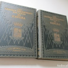Libros antiguos: LAS GRANDES CONMOCIONES POLITICAS EN ESPAÑA, FRANCISCO PI Y MARGALL Y PI Y ARSUAGA-S/F- 2 TOMOS. Lote 176913213