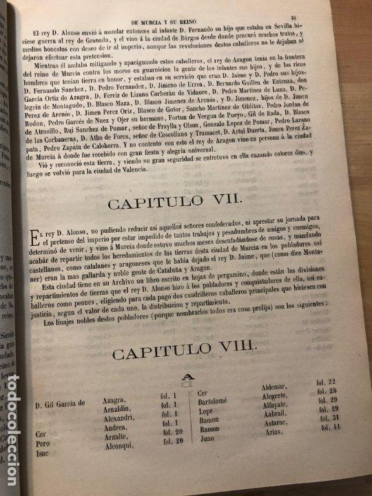 Libros antiguos: Discursos históricos de la ciudad de Murcia y su reino - Francisco Cascales - Foto 2 - 177086043