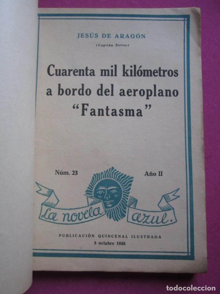 Libros antiguos: CUARENTA MIL KILOMETROS A BORDO DEL AEROPLANO FANTASMA JESUS ARAGON AÑO 1935 - Foto 2 - 177197255