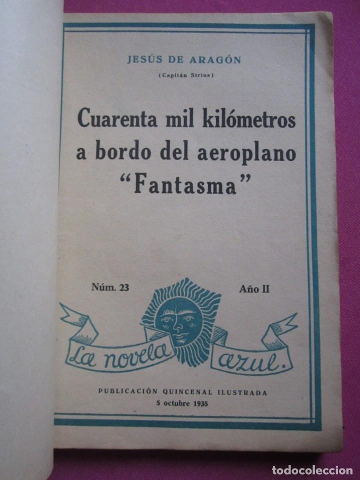Libros antiguos: CUARENTA MIL KILOMETROS A BORDO DEL AEROPLANO FANTASMA JESUS ARAGON AÑO 1935 - Foto 6 - 177197255