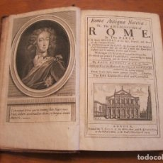Libros antiguos: ROME ANTIQUE...1713. BASIL KENNETT. POSEE 10 GRABADOS. Lote 177327038