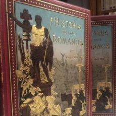 Libros antiguos: HISTORIA DE LOS ROMANOS. DURUY, VICTOR. BARCELONA: MONTANER Y SIMÓN, 1888. FOLIO. 2 TOMOS.. Lote 177595915