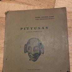 Libros antiguos: L- PITYUSAS, CICLO FENICIO 1931. Lote 178065689