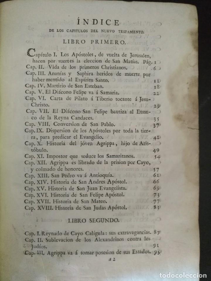 Libros antiguos: CALMET, HISTORIA DEL ANTIGUO ,NUEVO TESTAMENTO Y DE LOS JUDIOS, MADRID 1789, TOMO IV. - Foto 2 - 178562881