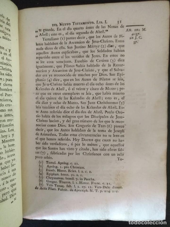 Libros antiguos: CALMET, HISTORIA DEL ANTIGUO ,NUEVO TESTAMENTO Y DE LOS JUDIOS, MADRID 1789, TOMO IV. - Foto 4 - 178562881