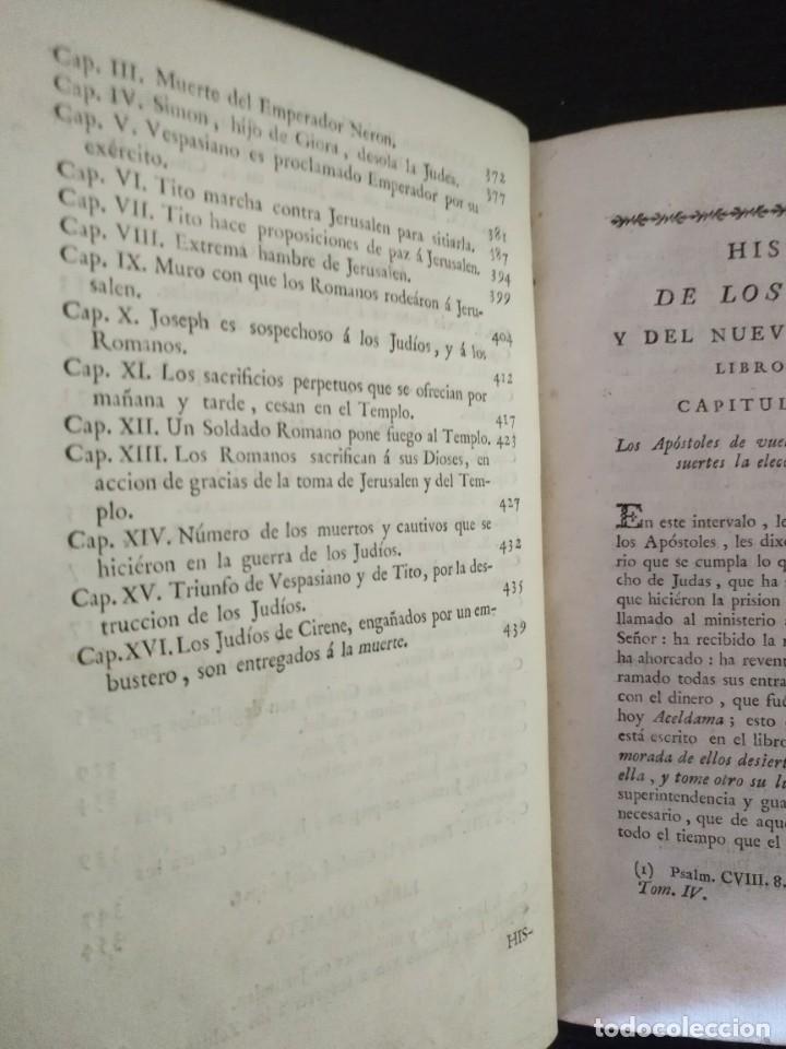 Libros antiguos: CALMET, HISTORIA DEL ANTIGUO ,NUEVO TESTAMENTO Y DE LOS JUDIOS, MADRID 1789, TOMO IV. - Foto 7 - 178562881