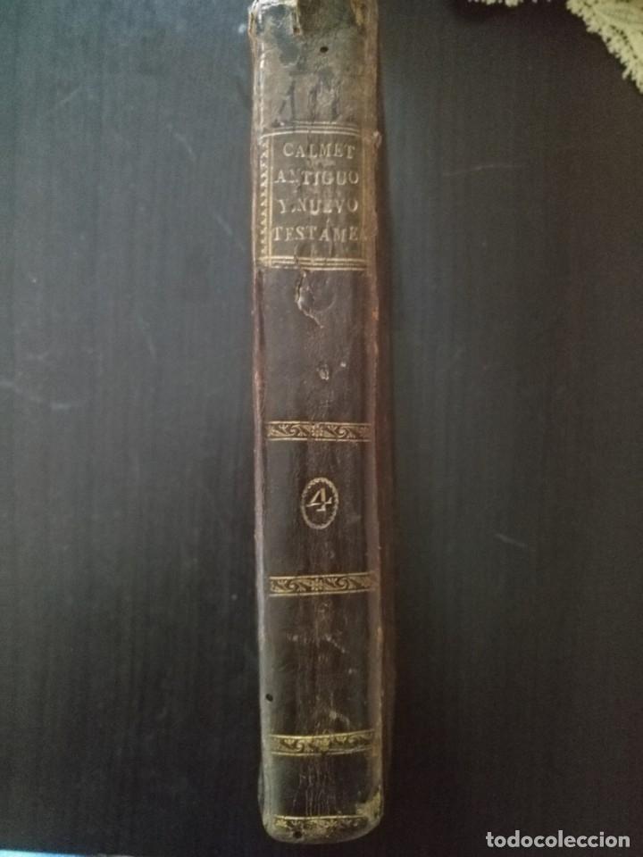 Libros antiguos: CALMET, HISTORIA DEL ANTIGUO ,NUEVO TESTAMENTO Y DE LOS JUDIOS, MADRID 1789, TOMO IV. - Foto 8 - 178562881