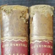 Libros antiguos: THE GRECIAN HISTORY BY DR. GOLDSMITH. OBRA EN DOS TOMOS I Y II. 1769. LEER.. Lote 178786418