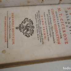 Libros antiguos: AÑO 1744: HISTORIA DE LA VIDA DE CICERON. PERGAMINO.. Lote 178964883