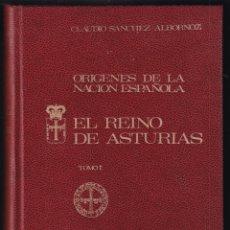 Libros antiguos: CLAUDIO SÁNCHEZ ALBORNOZ: ORÍGENES DE LA NACIÓN ESPAÑOLA. EL REINO DE ASTURIAS. TOMO I. 1972. Lote 179150407