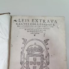 Libros antiguos: LEIS EXTRAVAGANTES COLLEGIDAS PELO LICENCIADO DUARTE NUNEZ ANO 1569. Lote 179533422