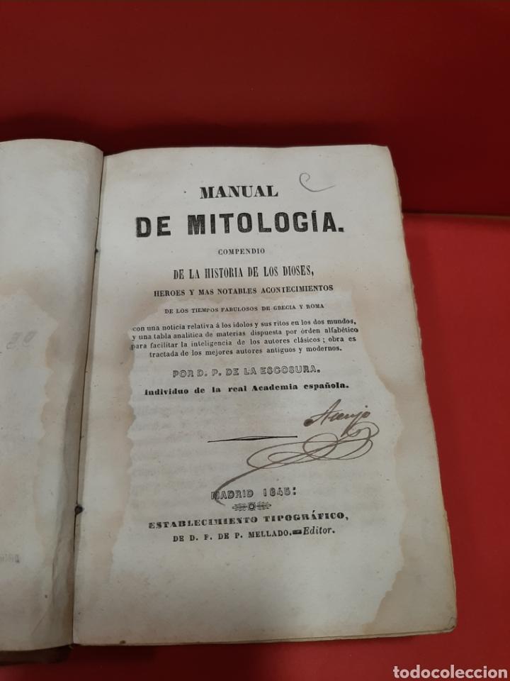 Libros antiguos: MANUAL DE MITOLOGÍA. COMPENDIO DE LA HISTORIA DE LOS DIOSES. P. DE LA ESCOSURA 1845. - Foto 2 - 179946830