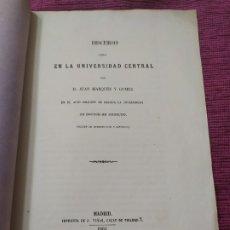 Libros antiguos: 1861. DISCURSO SOBRE ORÍGEN DEL CÓDIGO DE LAS 12 TABLAS O LEY DE IGUALDAD ROMANA. . Lote 180243082