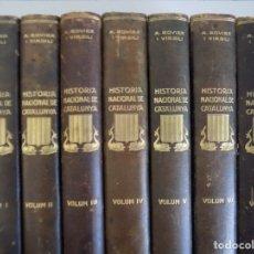 Libros antiguos: LIBRERIA GHOTICA. ROVIRA VIRGILI. HISTÒRIA NACIONAL DE CATALUNYA.1926.7 VOLUMENES EN FOLIO.ILUSTRADO. Lote 180268626