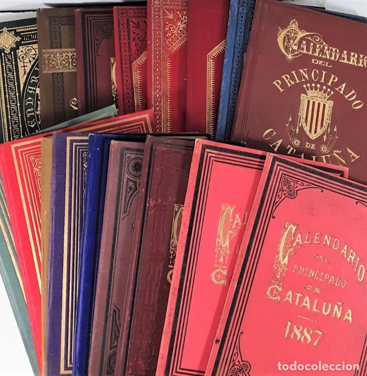 Libros antiguos: CALENDARIO DEL PRINCIPADO DE CATALUÑA. 17 EJEMPLARES. 1887/1900. - Foto 4 - 181323580