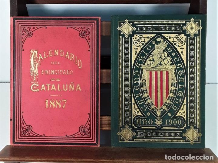 Libros antiguos: CALENDARIO DEL PRINCIPADO DE CATALUÑA. 17 EJEMPLARES. 1887/1900. - Foto 5 - 181323580