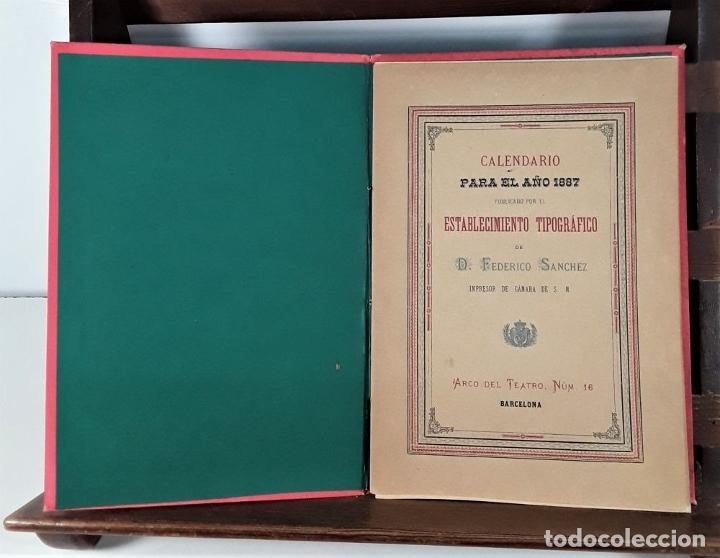 Libros antiguos: CALENDARIO DEL PRINCIPADO DE CATALUÑA. 17 EJEMPLARES. 1887/1900. - Foto 6 - 181323580