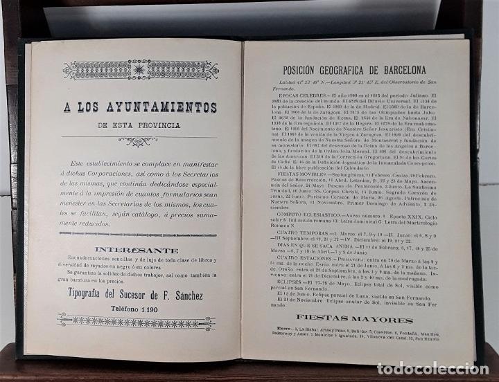 Libros antiguos: CALENDARIO DEL PRINCIPADO DE CATALUÑA. 17 EJEMPLARES. 1887/1900. - Foto 9 - 181323580