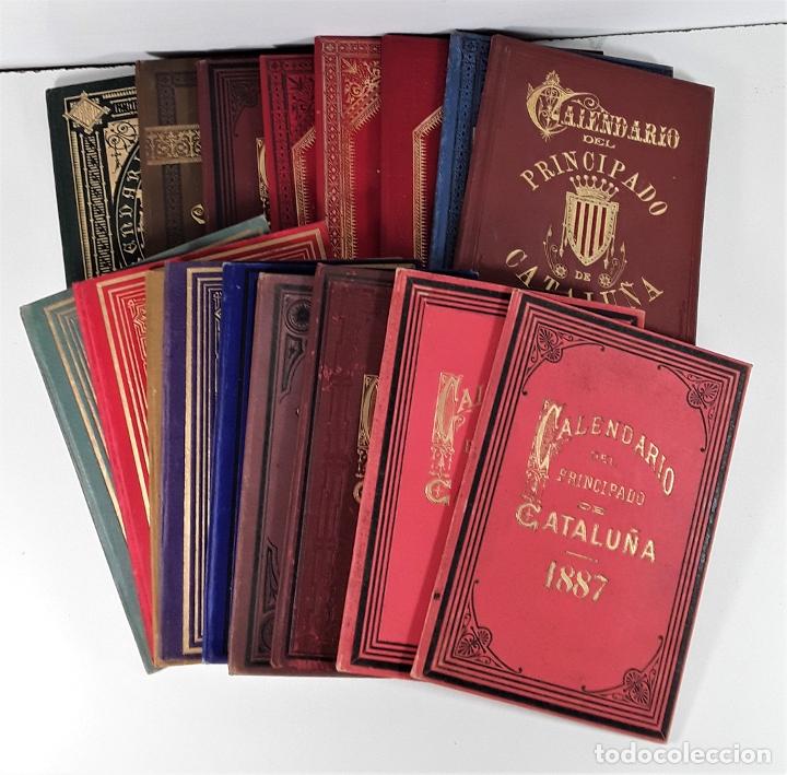 CALENDARIO DEL PRINCIPADO DE CATALUÑA. 17 EJEMPLARES. 1887/1900. (Libros antiguos (hasta 1936), raros y curiosos - Historia Antigua)
