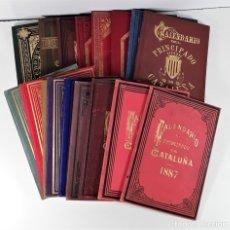 Libros antiguos: CALENDARIO DEL PRINCIPADO DE CATALUÑA. 17 EJEMPLARES. 1887/1900.. Lote 181323580