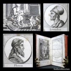 Libros antiguos: AÑO 1806 ARQUÍMEDES PITÁGORAS PLATÓN ARISTÓTELES HOMERO LEÓNIDAS EL PLUTARCO DE LA JUVENTUD GRABADOS. Lote 181438730