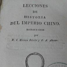 Libros antiguos: LECCIONES DE HISTORIA DEL IMPERIO CHINO 1829 MUY RARO. Lote 181516198