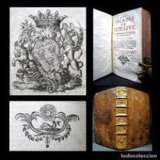 Libros antiguos: AÑO 1722 SOLO 1 EJEMPLAR EN ESPAÑA! ANTIGUA ROMA LAS DÉCADAS DE TITO LIVIO HISPANIA CARTAGO EXLIBRIS. Lote 181529635