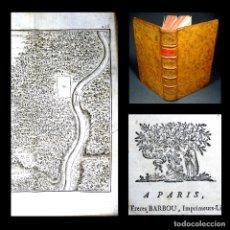 Libros antiguos: AÑO 1795 SALUSTIO BELLUM CATILINARIUM ANTIGUA ROMA GRABADO DESPLEGABLE JUGURTA CATILINA BARBOU. Lote 181530573