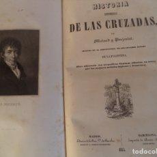 Libros antiguos: HISTORIA PINTORESCA DE LAS CRUZADAS.MICHAUD Y POUJOULAT SEGUIDA DE LA DESCRIPCION DE LOS LUGARES SAG. Lote 181710401