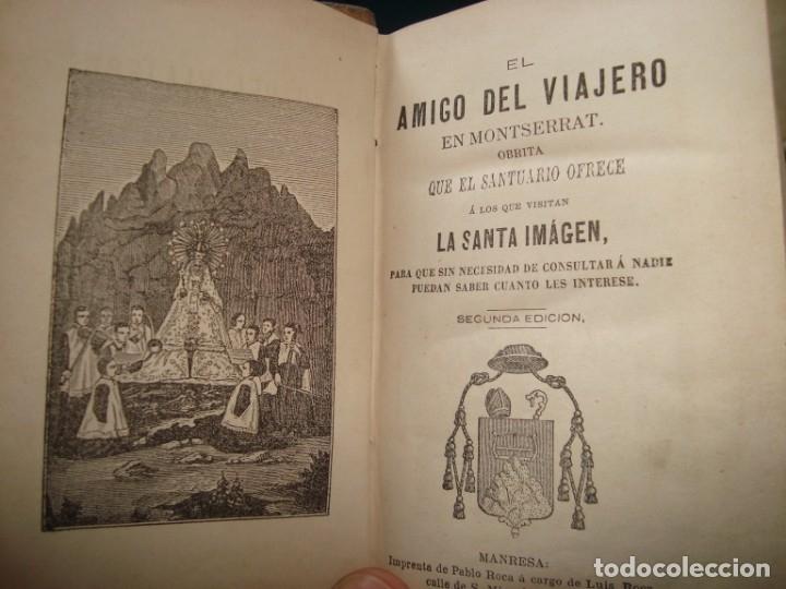 EL AMIGO DEL VIAJERO EN MONTSERRAT , MANRESA (Libros antiguos (hasta 1936), raros y curiosos - Historia Antigua)