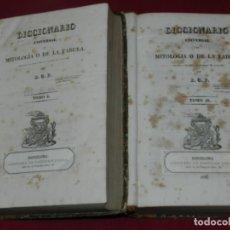 Libros antiguos: (MF) B.G.P. DICCIONARIO UNIVERSAL DE MITOLOGIA O DE LA FABULA, 2 TOMOS, COMPLETO, BARCELONA 1835. Lote 182258877