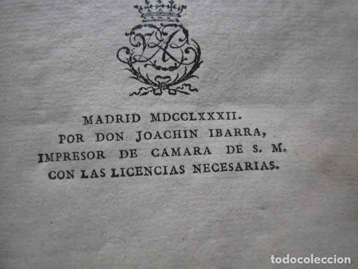 Libros antiguos: DISCURSO SOBRE LAS PENAS A LAS LEYES CRIMINALES DE ESPAÑA J. IBARRA 1782. - Foto 3 - 182403652
