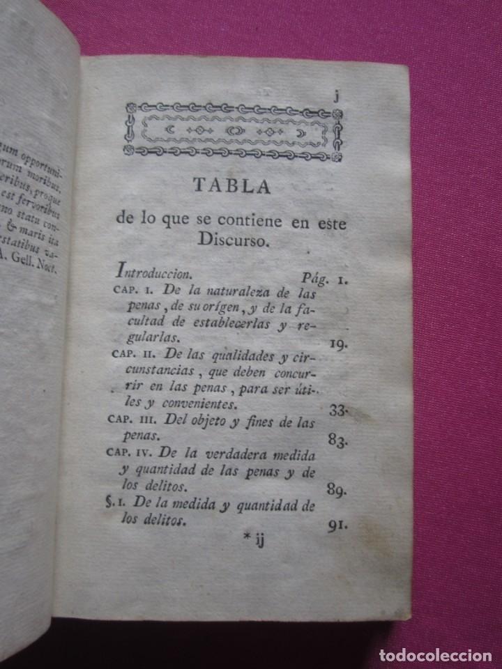 Libros antiguos: DISCURSO SOBRE LAS PENAS A LAS LEYES CRIMINALES DE ESPAÑA J. IBARRA 1782. - Foto 5 - 182403652
