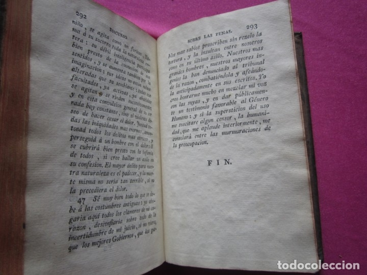 Libros antiguos: DISCURSO SOBRE LAS PENAS A LAS LEYES CRIMINALES DE ESPAÑA J. IBARRA 1782. - Foto 6 - 182403652