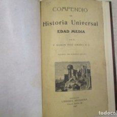 Libros antiguos: COMPENDIO DE HISTORIA UNIVERSAL - RAMON RUIZ AMADO - BARCELONA 1919 3ª EDI 180PAG 22.5CM + INFO. Lote 182526762