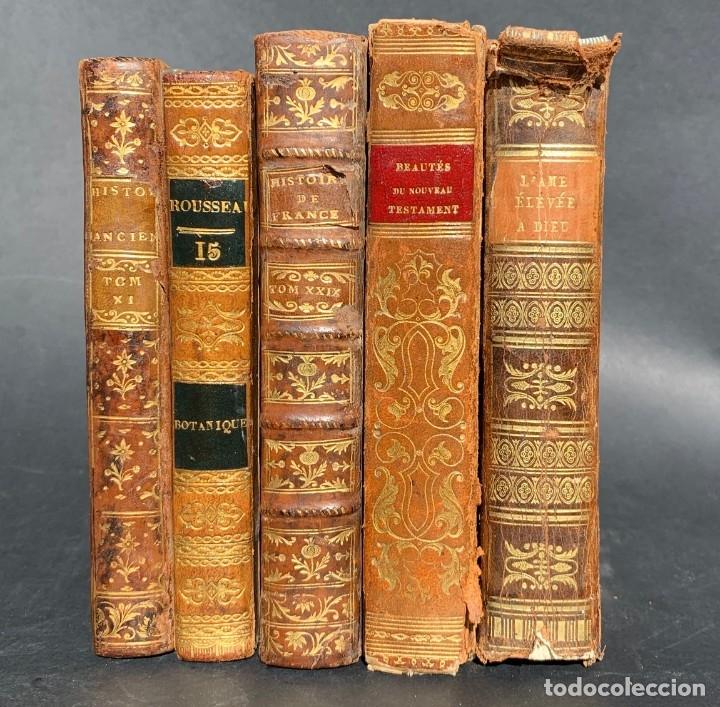 1786 - LOTE DE LIBROS ANTIGUOS - GRABADOS - ENCUADERNACIÓN - DECORACIÓN - HISTORIA (Libros antiguos (hasta 1936), raros y curiosos - Historia Antigua)