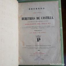 Libros antiguos: LAS BEHETRÍAS DE CASTILLA. BECERRO. ESPECTACULAR OBRA. 1866, 1ª ED. CHANCILLERÍA DE VALLADOLID.. Lote 182773115