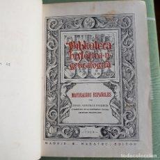 Libros antiguos: MAYORAZGOS ESPAÑOLES. 1A ED. ÁNGEL GONZÁLEZ PALENCIA. MADRID. E. MAESTRE EDITOR. 1930. Lote 182774018
